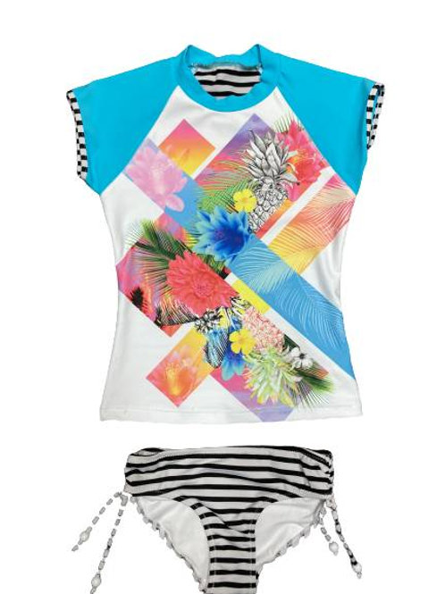 SEAFOLLY TROPICAL SPLICE S/S SURF SET