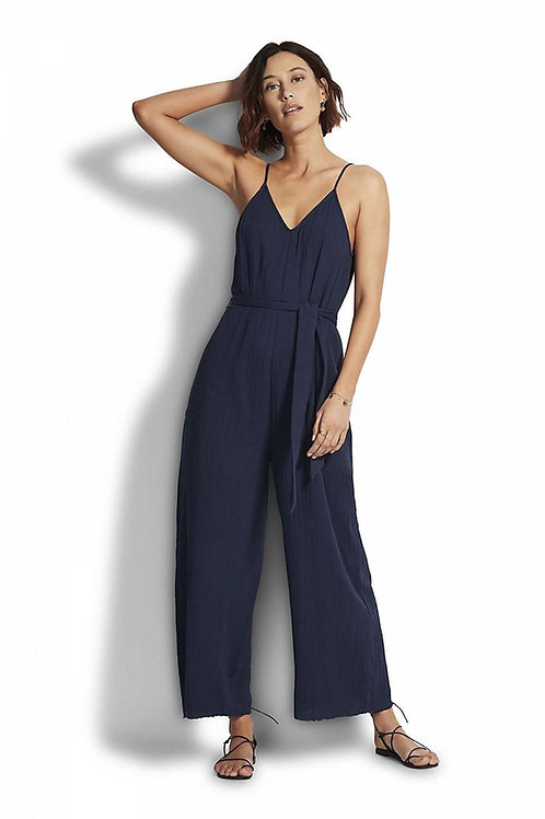 SEAFOLLY BEACHEDIT DOUBLE CLOTH JUMPSUIT