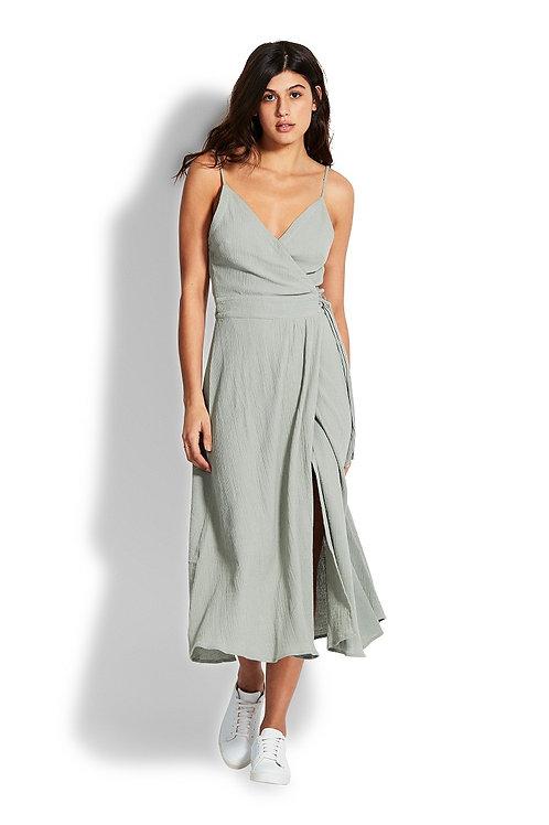 SEAFOLLY DOUBLE CLOTH WRAP DRESS
