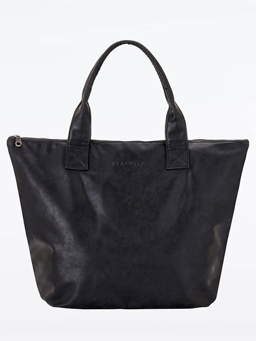 SEAFOLLY CARRIED AWAY VEGAN LEATHER SHOPPER TOTE