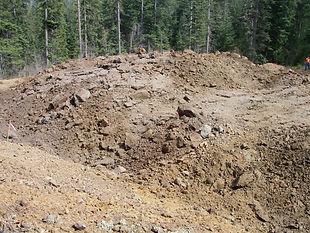 Mountain of shot rock