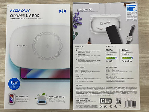 MOMAX Q.UV Box Wireless Charger + UV Sanitising Box