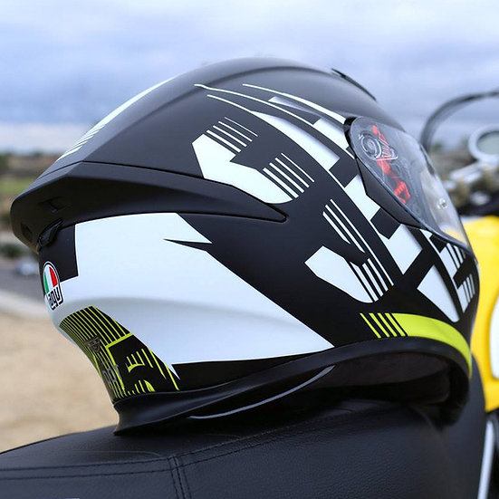 AGV K-5 S Darkstorm Matt Black/Yellow