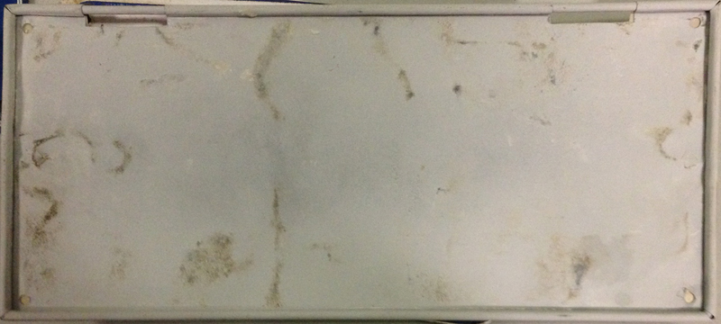 Reverse side of inaccurately refinished Ontario wire-rimmed tin plate, made to be a 1915.