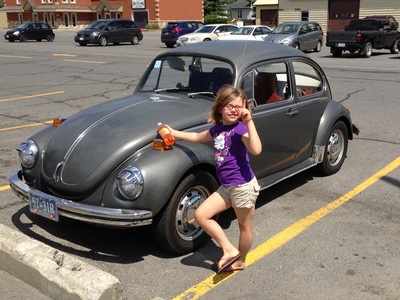 My daughter with Greta in Embrun after Volksfest 2013.
