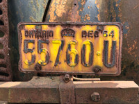 December 1964 quarterly plate on the old flatbed truck.