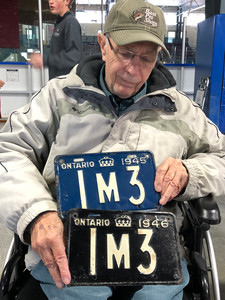 Number 1M3 was issued each year to the same motorist. These plates were together at one point. Bill wants to know: Where are they now?