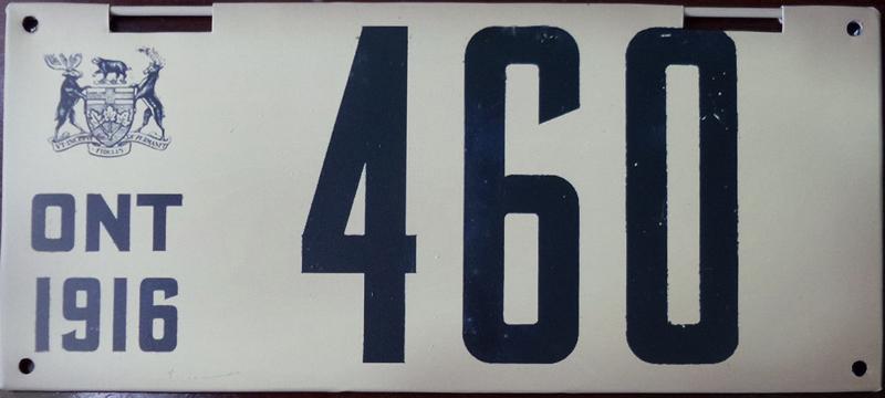 Fake Thai-made 1916 Ontario plate.