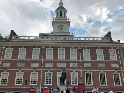 The location where the US Constitution was adopted, Philadelphia, PA.