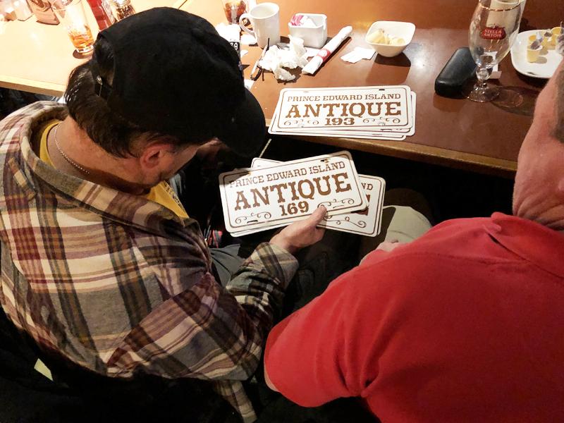 Joe and Mike discuss PEI Antique Auto plates.