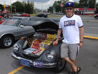 Showing the car and promoting the business at a car show on Merivale Road in Ottawa in 2015.