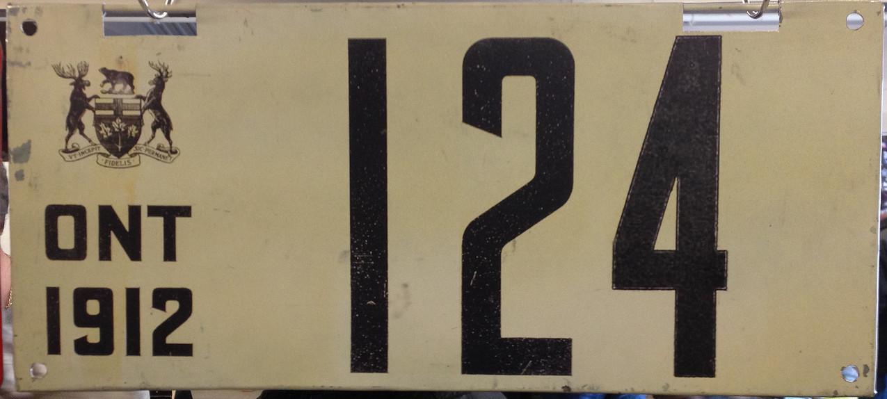 Fake Thai-made Ontario 1912 plate.