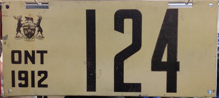 Fake Thai-made 1912 Ontario plate.