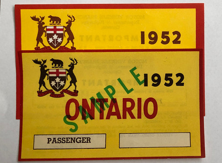 Fake 1952 Ontario windshield decals