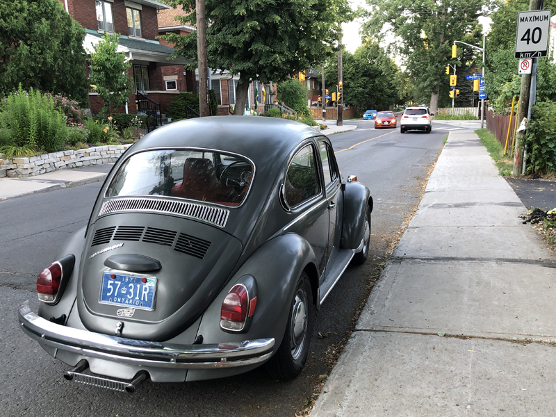 Parked on Sunnyside Avenue in Old Ottawa South, before a pinball tournament at House of TARG.