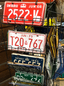 Some colourful mid-vintage truck plates at Southworks.