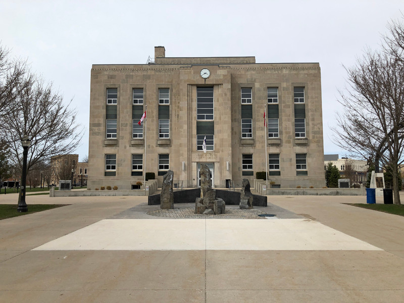Huron County courthouse in Goderich.