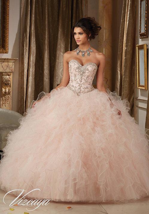 Sissi Brautkleid aus Tüll mit Herzausschnitt, Prinzessin Ballkleid blush rosa