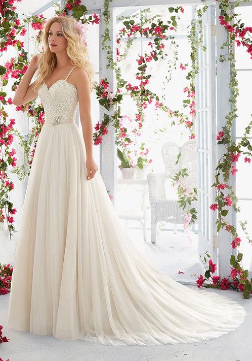 Brautkleider mit Spitze Tüll Satinband 2018