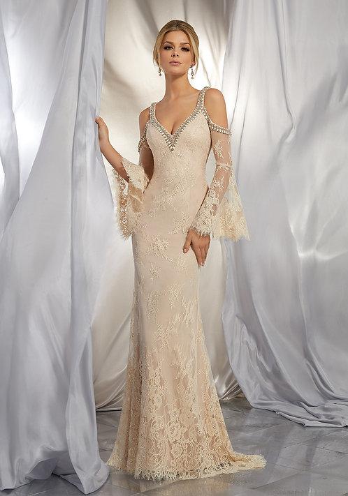 Brautkleider boho style mit spitze ärmel rückenfrei 2019 bohemian