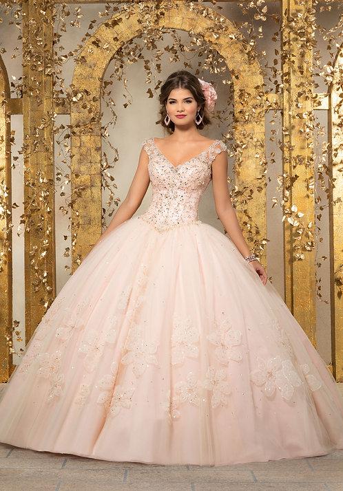 Ballkleider Brautkleider mit Träger Tüll blush rosa Sissi