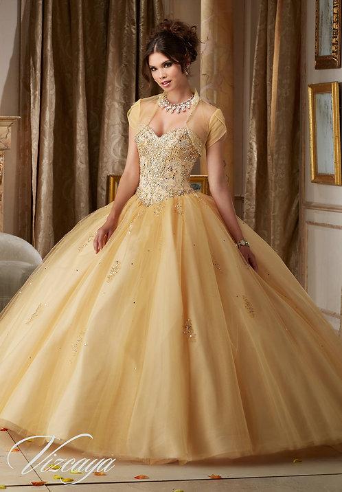 Brautkleider Gold Tüll Sissi Prinzess Ballkleider