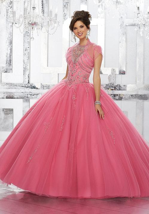 Türkische Brautkleider Ballkleider aus Tüll, Prinzessin Style, Rosa Koralle