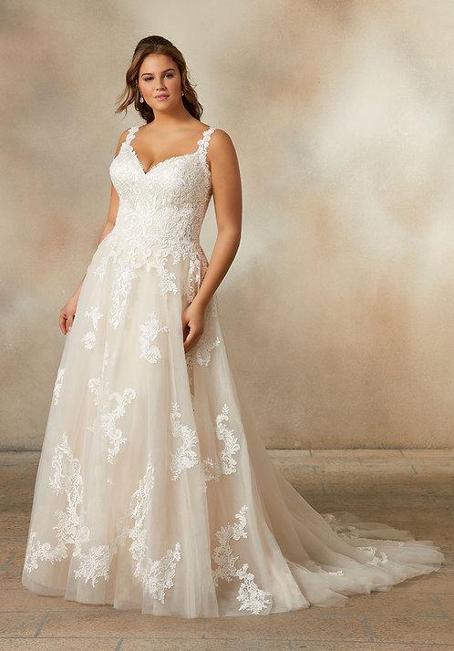 Brautkleider für mollige extra grössen Spitze plus size