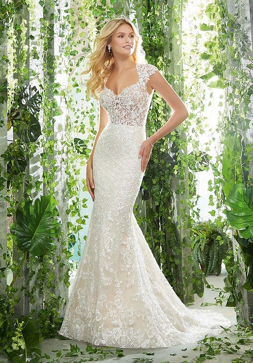 Hochzeitskleider mit Spizte Meerjungfrau fit and flair rückenfrei