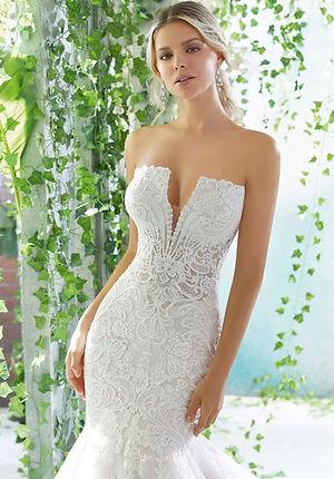 Brautkleider-Hochzeitskleider ausgefallene mit Spitze, Meerjungfrau Schnitt