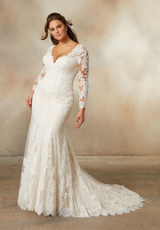 Brautkleid Pearlina, mit Ärmeln, Spitze, Plus Size  Event Mode