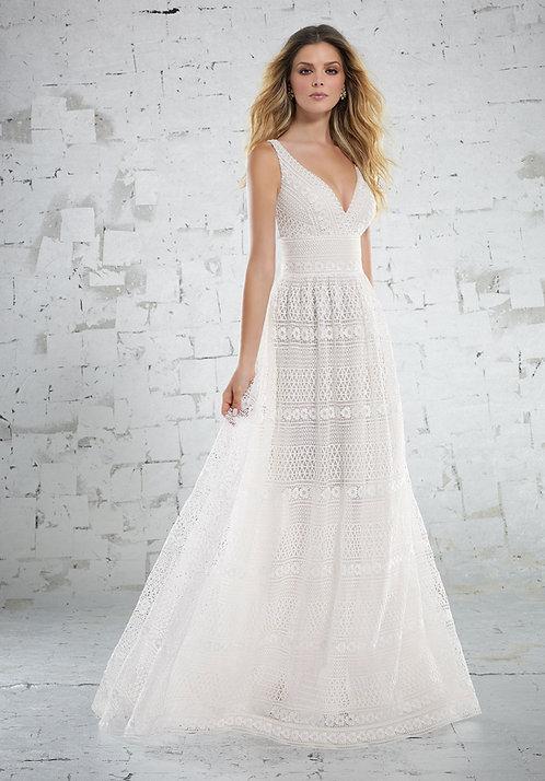 Brautkleider bohemian Style boho mit Spitze