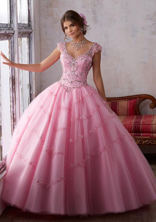 Brautkleider Ballkleider mit Flügel Träger Tüll Sissi Prinzessin rosa