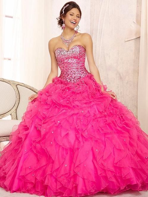 Ballkleider Brautkleider Sissi Cinderella Tüll Glitzer pink