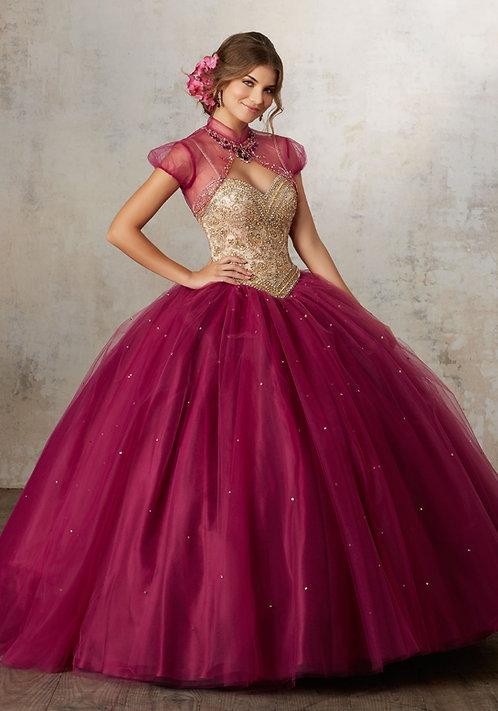 Ballkleider Brautkleider farbige ausgefallene tüll dunkelrot gold