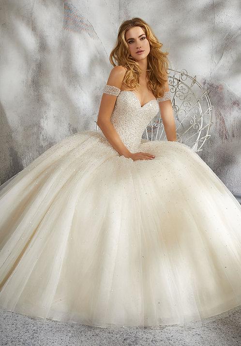 Brautkleider Prinzessin tüll glitzer schulterfrei herzausschnitt