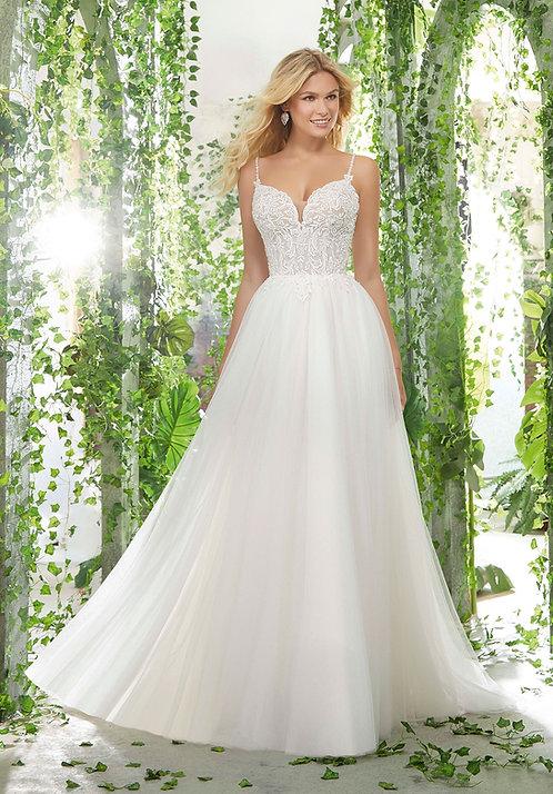 Brautkleider mit Spitze A-Linie Tüll, Herzausschnitt