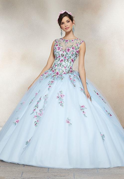 spanische Brautkleider Blumen tüll sissi prinzessin farbige
