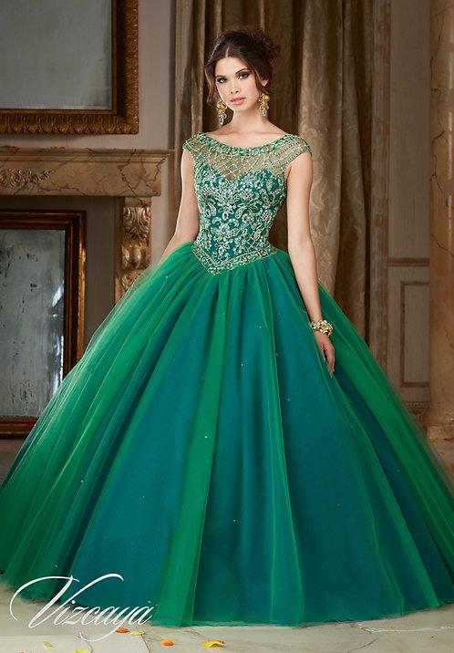 Ballkleider Brautkleider Sissi Cinderella Tüll Glitzer grüne