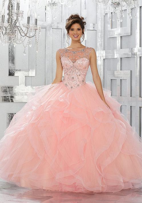 Rosa Blush Ballkleider Brautkleider Tüll Prinzessin Sissi weiss