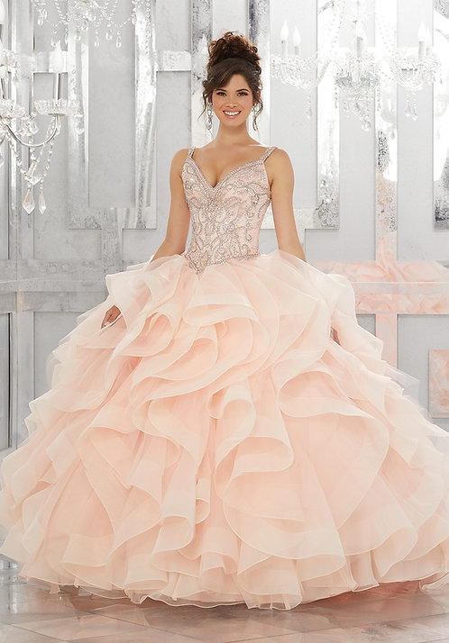 Ausgefallenes Prinzessin Brautkleid Ballkleider in Farbe Blush Rosa