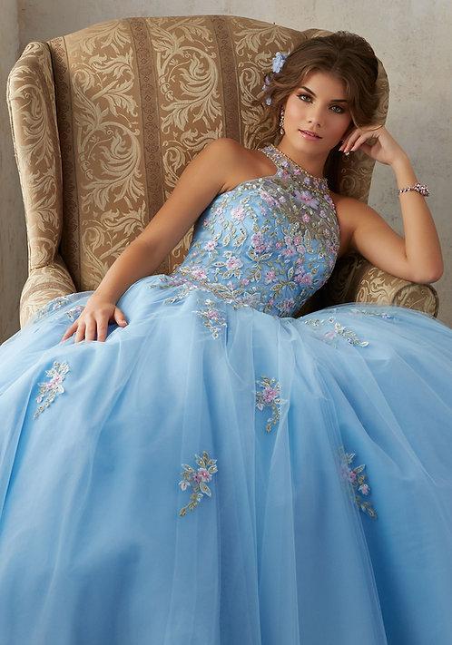 Ballkleider Hochzeitskleider farbige Tüll Prinzessin blau