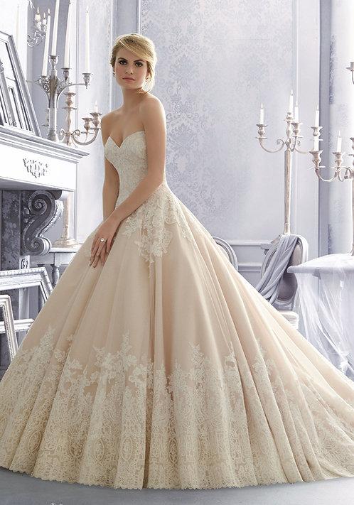 Brautkleider klassisch prinzessin mit Spitze Tüll Ballkleid