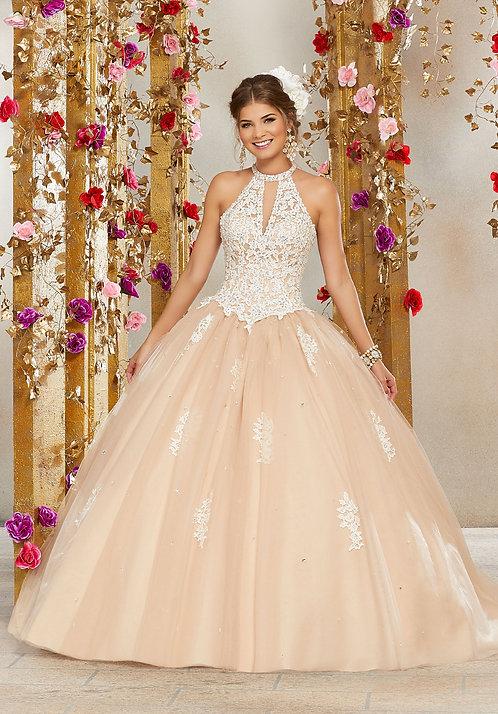 Spanische Brautkleider Tüll Ballkleider Sissi nude ivory