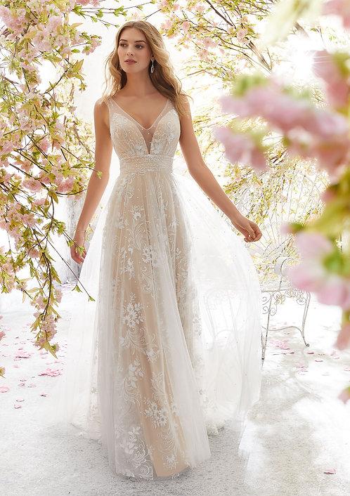 Brautkleider 2019 tiefer Rücken Ausschnitt, Spitze, boho style