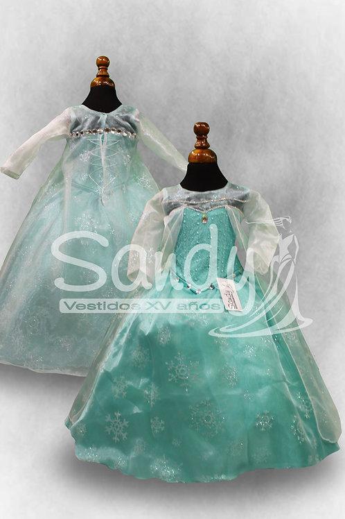 Vestido de niña Elsa Frozen