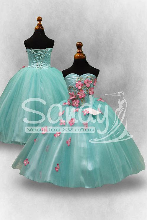 Vestido de niña flores Sandy Primavera