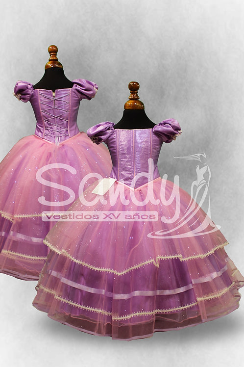 Vestido de niña Rapunzel Sandy