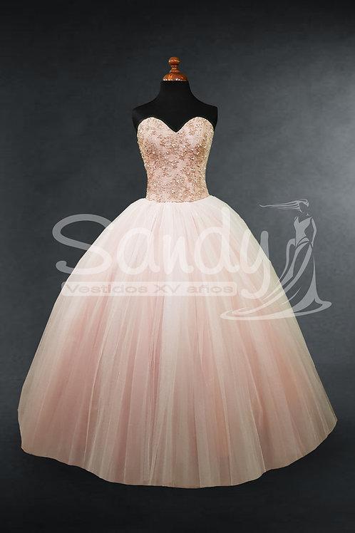 Vestido 15 años rosa Sandy