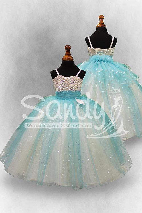 Vestido niña menta Sandy